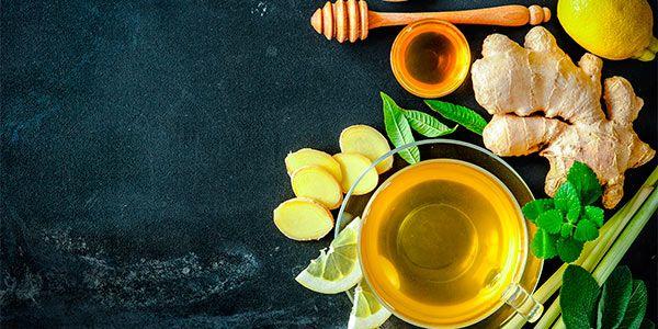 10 recetas de té de jengibre: frío y caliente