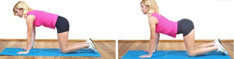 extensión de la columna de flexión