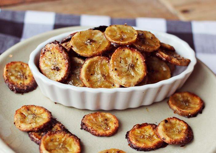 chips de plátano dulce