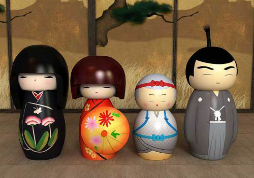 familia kokeshi