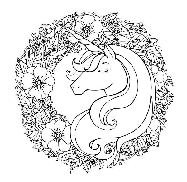 unicornio para colorear 3