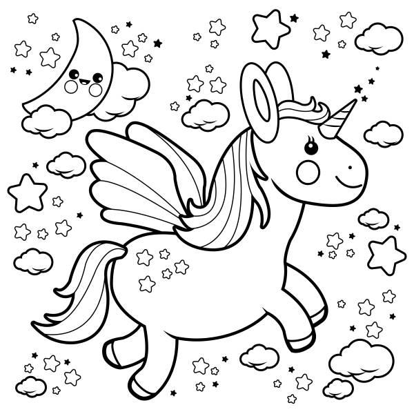 unicornio para colorear imágenes 4
