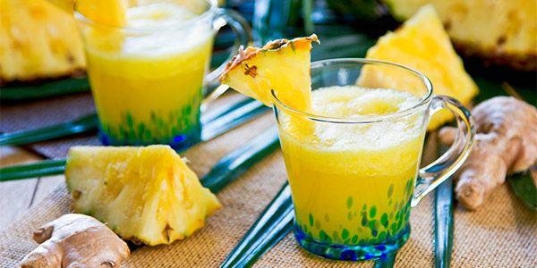 jugo de piña y jengibre