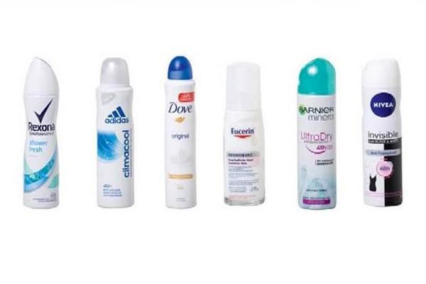 desodorantes que contêm muito alumínio