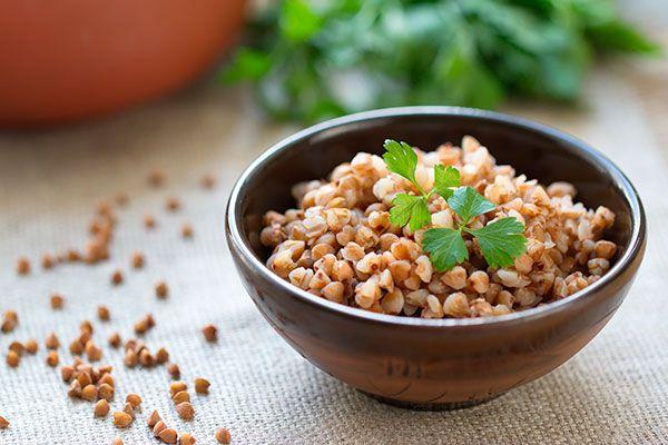 tazón de trigo sarraceno