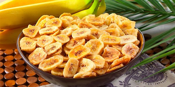 Chips de plátano: varias recetas, chips, horneados, dulces y salados