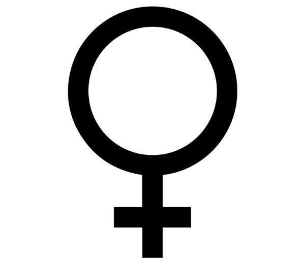 símbolo femenino 2