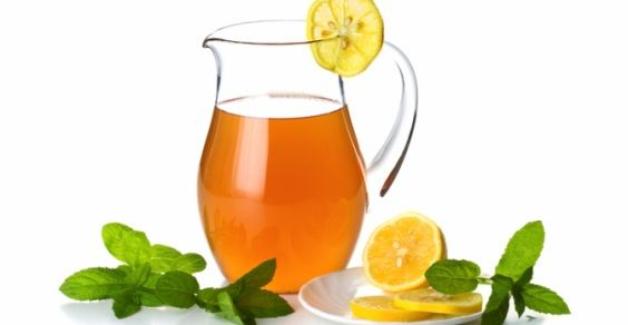 té helado de limón