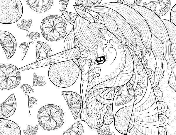 imágenes de unicornio para colorear
