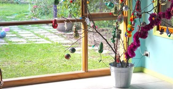 árvores de Natal faça você mesmo em casa